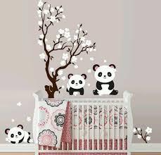 stickers panda chambre bébé stickers muraux en 55 photos pour personnaliser les murs panda