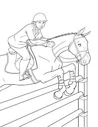 Horse Jumping Coloring Pages Printable As Well Mustang Show Colouring