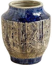 incredible deal on mercana art decor 30953 vases blue