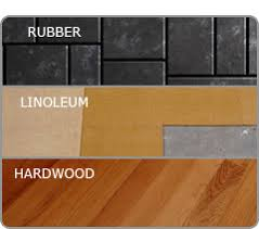 Image Of Recycled Rubber Natural Linoleum And Hardwood Flooring