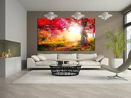 leinwand bild forest natur wald lichtung modern abstrakt