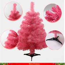 60cm Pink Color Christmas Tree Creative Encryption Table Decoration Shop School On Day