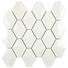 Home Depot Merola Lantern Ceramic Tile by Merola Tile Prism Glossy White 10 1 2 In X 11 In X 6 Mm