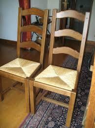 chaise en ch ne massif chaise en chane massif chaises chene massif assis paille neuf chaise