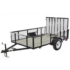 100 Lowes Pickup Truck Rental CarryOn Trailer 6ft X 10ft Treated Lumber Utility Trailer With