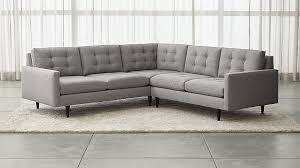 Dexter Floor Lamp Crate And Barrel petrie 2 piece corner midcentury sectional sofa crate and barrel