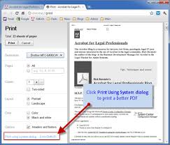 Better PDF Printing From Chrome