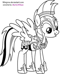 Rainbow Dash Coloring Pages Mlp Printable My Little Pony Drawing