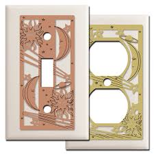 celestial light switch wall plates in light almond kyle design