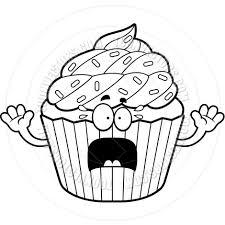 Birthday Cupcake Black And White Free