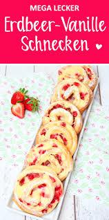 erdbeer pudding schnecken
