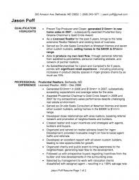 Real Estate Agent Resume Qualification Highlights And Professional Experience Awesome Pdf Example Description 360