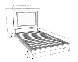 How To Build A King Size Platform Bed Plans by Ana White Fillman Platform Twin Platform Bed Diy Projects