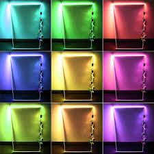 rgb led glass edge lighting kit 4pcs rgb led glass shelf lights