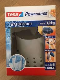 badezimmer dusche ablage korb tesa powerstrips waterproof