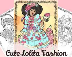 Cute Chubby Lolita Fashion Printable Coloring Book Kids Or Adult Pages Downloadable