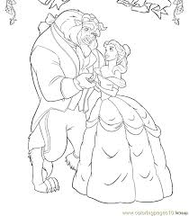 Beauty Beast Coloring Page 22
