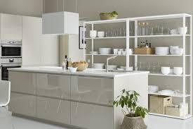 cuisine ikea beige p cuisine metod habillée des portes et faces de tiroirs voxtorp