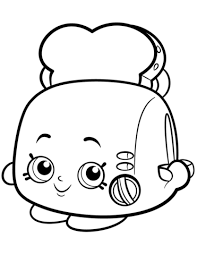 Toasty Pop White Toaster Shopkin Coloring Page