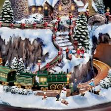 Thomas Kinkade Christmas Tree Cottage by The Thomas Kinkade Christmas Seaside Village Hammacher Schlemmer