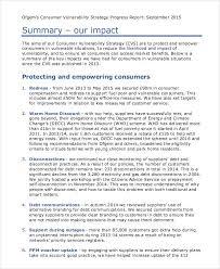 Strategy Progress Report Template