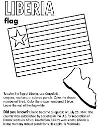 Liberia Coloring Page