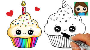 How to Draw a Birthday Cupcake Easy