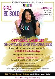 GIRLS BE BOLD Official Launch Showcase And Fundraiser 27 OCT 2018