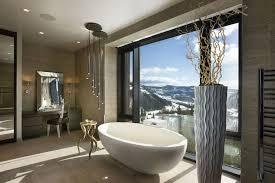 badezimmer deko ovale freistehende badewanne modernes