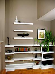 Rustic Floating Shelves Above Tv The Shelving Around And Wall Hung Unit Design Innovative Mount Media