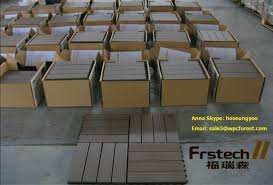 300x300mm interlock wpc diy outdoor decking tiles wooden acacia