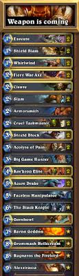 hearthstone features guide control warrior revised gosugamers