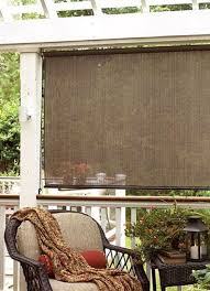 Bamboo Patio Curtains Outdoor by Outdoor Shades For Patio Exterior Sun Block Porch Deck Roll Up