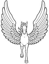 Trend Flying Unicorn Coloring Pages Color Gallery
