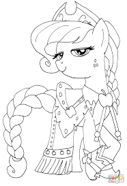 Applejack Coloring Page Princess Free Printable Pages To Download