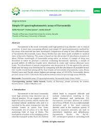 High Ceiling Diuretics Pdf by Simple Uv Spectrophotometric Assay Of Furosemide Pdf Download