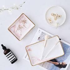 nordic stil marmor gold ablage keramik tablett