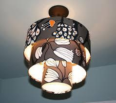 diy drum shade pendant light w ikea lobbo shade diy