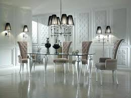 Luxurious Dining Room Sets Silver Chairs Black And Set White