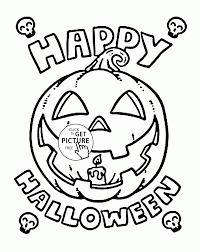 Happy Halloween Pumpkin Coloring Pages For Kids Printables Free