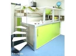 bureau superposé lit superpose avec escalier lit superpose escalier avec rangement