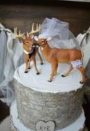 Sign Hunting Wedding Cake Topper Deer Buck And Doe Woodland Rustic Grooms Hunter Groom
