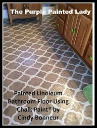 Tiling A Bathroom Floor Over Linoleum by Painting A Linoleum Floor And U2026 The Purple Painted Lady