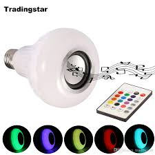 smart e27 rgb bluetooth speaker led bulb light 12w dimmable rgbw