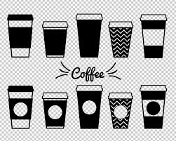 Coffee Mug SVG Dxf Paper Cups Clipart Mugs