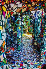 mosaic tile house in venice california