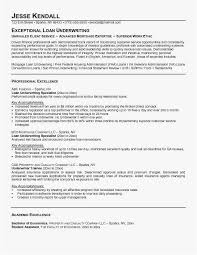 Insurance Underwriter Resume Free Good Mortgage Examples