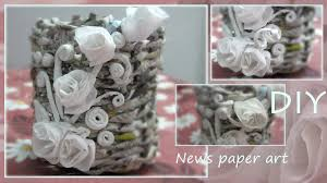Pen Holder Recycled Newspaper Craft Part 2