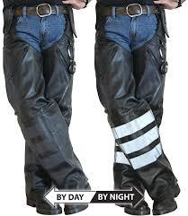 amazon com missing link black ops leather hook chaps black