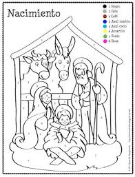 Christmas Spanish Color By Number Coloring Pages To Teach Colors Numbers And